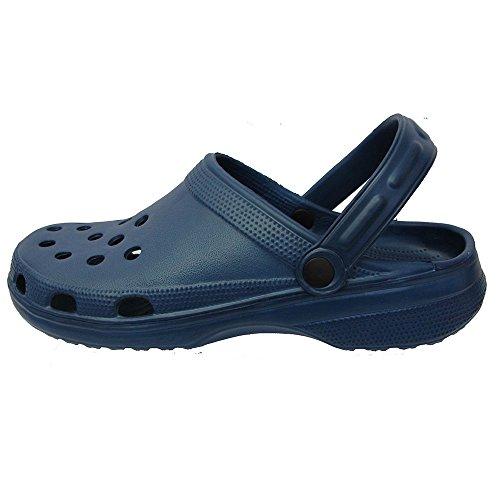 IAM Mens / Women's CLASSIC Beach Clogs Shower Mules Slip On Shoe Sandal UK 7 - 11 Navy cbclii