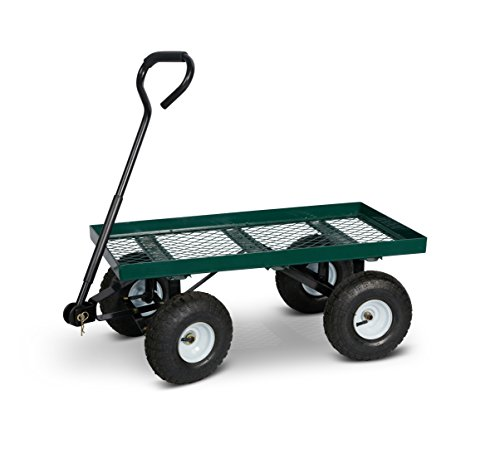 Terra Verde Home Mesh Garden Cart with Pneumatic Tires, Green Review