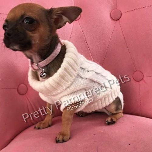 Pretty Pampered Pets Chihuahua Clothes XXXS Tiny New Puppies Teacup Size White