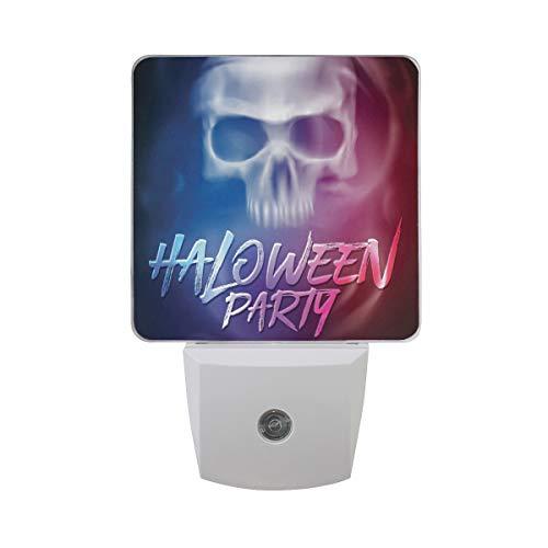 Plug-in Night Light, Halloween Party Flyer LED Nightlight, Dusk-to-Dawn Sensor for Bedroom Bathroom Kitchen Hallway Living Room