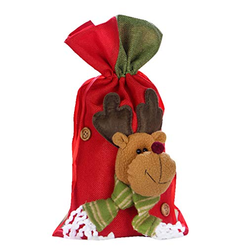 (Stockings & Holders - Christmas Large Gift Bags Drawstring 3d Santa Claus Snowman Candy Pouch Kids Xmas Decoration Year - Holders Stockings Stockings Gift Holders Drawstring Christmas Xmas Eas)