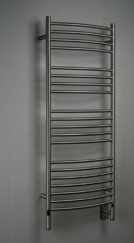 Jeeves Wall Mount Electric D Curved Towel Warmer Finish: Bru