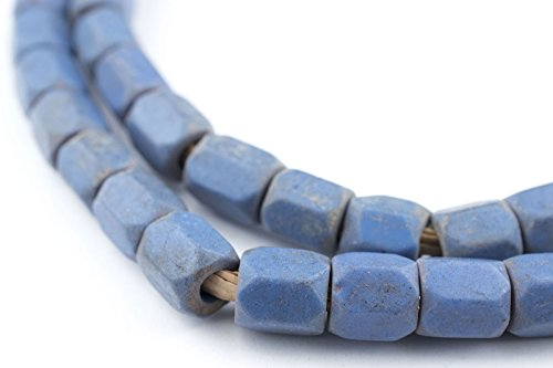 Beads Faceted Russian - Faceted Russian Blue Glass Beads (7mm) - Full Strand of Glass Beads - The Bead Chest
