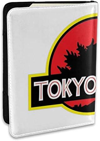 Godzilla!ゴジラ モンスター ロゴ パスポートケース メンズ レディース パスポートカバー パスポートバッグ ポーチ 6.5インチ PUレザー スキミング防止 安全な海外旅行用 収納ポケット 名刺 クレジットカード 航空券