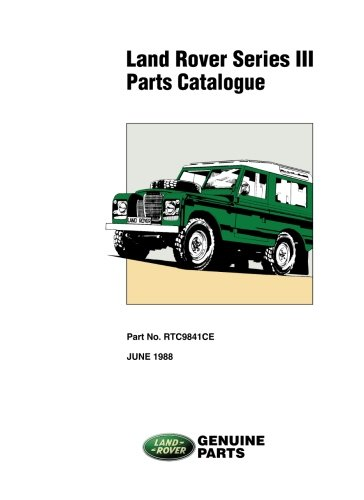 Land Rover Series 3 Parts Catalog from Brooklands Books