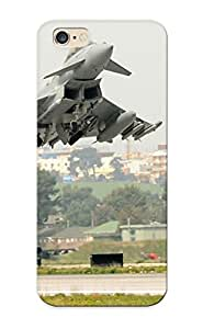 For Iphone 6 Plus Protective Case, High Quality For Iphone 6 Plus Aircraft Military Eurofighter Typhoon Takeoff Fighter Jets Skin Case Cover