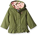 Carter's Baby Girls Mid-Weight Flounce Hem Jacket, Little Scout Olive, 24M
