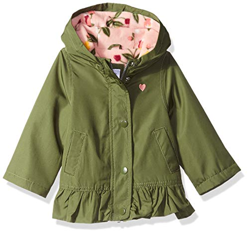 Carter's Baby Girls Mid-Weight Flounce Hem Jacket, Little Scout Olive, 24M by Carter's