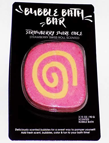 Bubble Bath Bar, Strawberry Swirl Cake, Strawberry Swiss Roll Scented ()