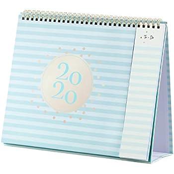 2020 Desk Calendar - Standing Flip Calendar 2020 with Premium Thick Paper, 10.5