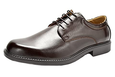 Bruno Marc Men's Downing-02 Dark Brown Leather Lined Dress Oxfords Shoes - 10 M US - 2 Leather Casual Shoe