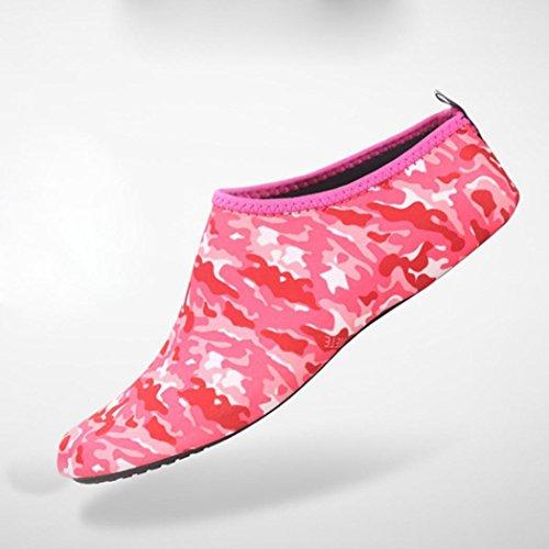 Deesee (tm) Uomini Donne Allaperto Sport Acquatici Immersioni Calze Yoga Scarpe Da Spiaggia Scarpe Treadmil Rosso