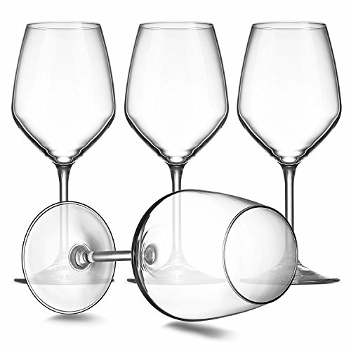 Paksh Novelty Italian Red Wine Glasses - 18 Ounce - Lead Free - Wine Glass Clear (Set of 8) by Paksh Novelty (Image #1)