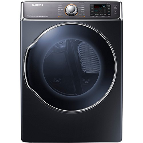 9.5 Cu. Ft. Front-Load Gas Steam Dryer with Dual Heaters, Onyx (Front Load Stacked Washer Dryer)