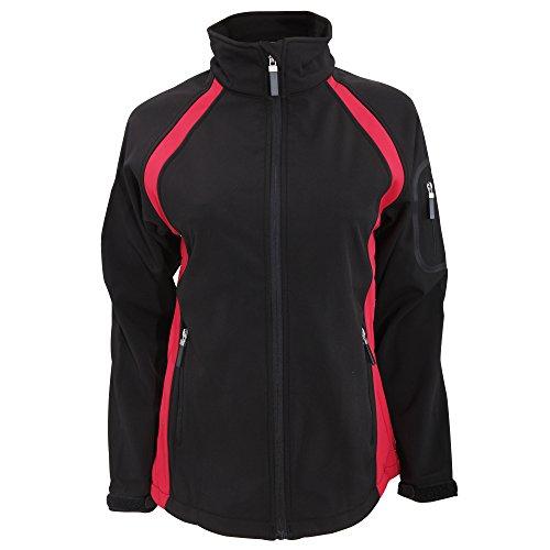Finden & Hales - Chaqueta deportiva tri-capa de equipo para mujer Negro/Rojo