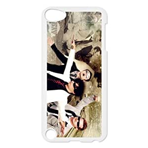 JS-6 Music Band Greenday White Print Hard Shell Case for iPod Touch 5th