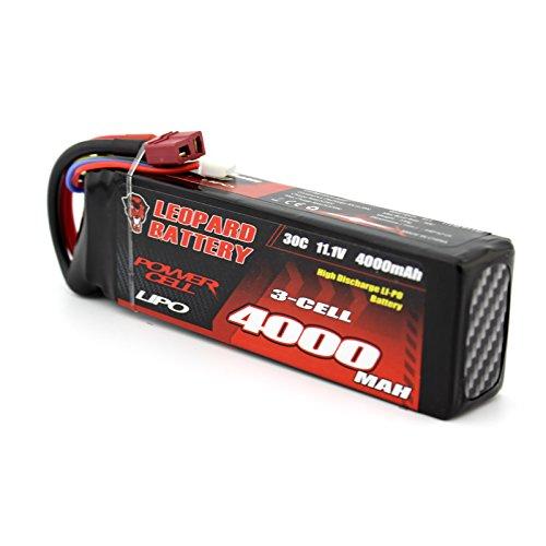 MAUBHYA LEOPARD Power 11.1V 4000mAh 30C 3S T Plug Lipo Battery for 1:8 1:10 RC Car by MAUBHYA