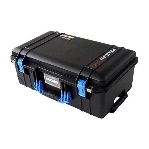 (Black Pelican 1535 Air case with Blue Handle & latches. No Foam.)