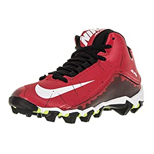 Nike Boy's Alpha Shark 2 3/4 Football Cleat University Red/Black/White Size 2.5 M US
