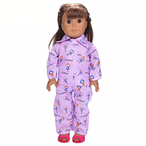 WensLTD Clearance! Cute Soft Robe Dolls Robe Fit For 18 inch Our Generation American Girl Doll (A-1)