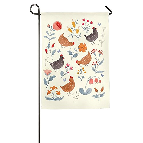 Hfdream Chicken Rooster Home Flag Graphic Garden Flag Concise Outdoor Flags Cartoon Yard (Rooster Mailbox Cover)