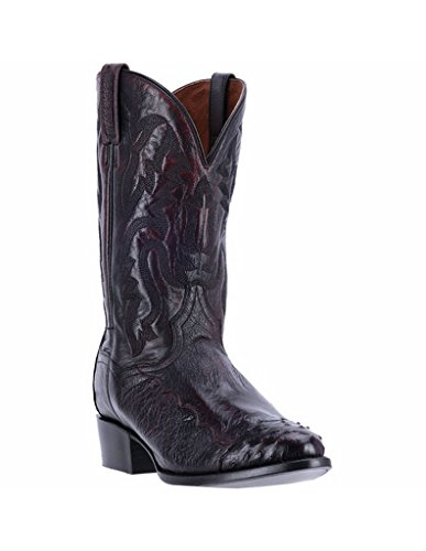 Dan Post Round Boots - Dan Post Men's Pugh Cherry Ostrich Western Boot Round Toe Black 10 D