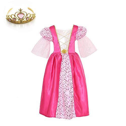 Medieval Princess Dresses - SPUNICOS Toddlers Girls Pink Medieval Princess