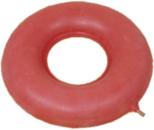 Luftkissen 42.5cm Durchmesser Gummi, rot, Anti-Dekubitus-Sitzkissen