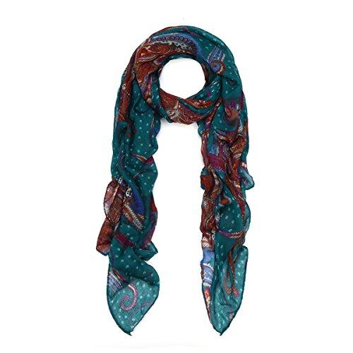 teal blue scarf - 3