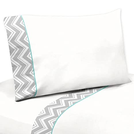 Amazon.com: Sweet diseños Jojo 5-Piece Turquesa y gris ...