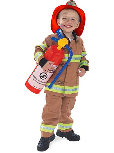 Rubie's Child's Tan Firefighter Costume (Hat Not Included), Small]()