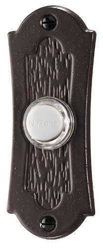 NuTone PB27LBR Wired Lighted Door Chime Push Button, Oil-Rubbed Bronze by Broan