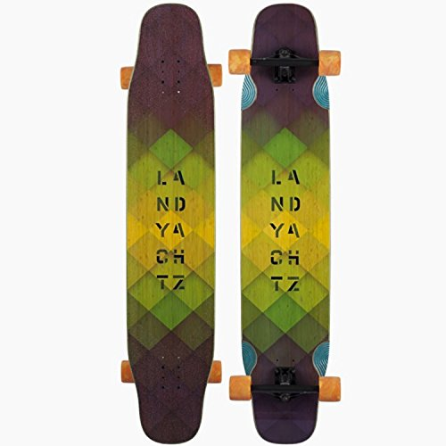 Landyachtz Stratus - Lightweight Dancer Longboard, Deck and Complete (Bamboo, Complete)