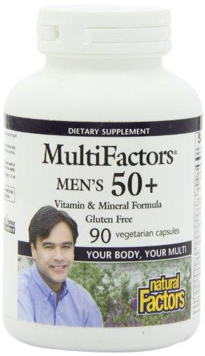 Natural Factors Multifactors Men's 50+ Veg-Capsules, 90-Count