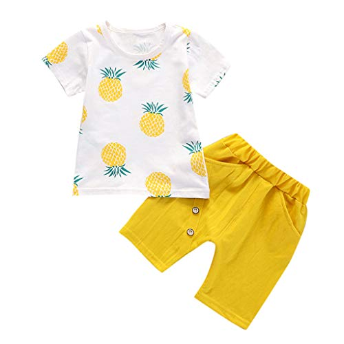 NUWFOR Printed Rompers Toddler Baby Kids Boys Pineapple