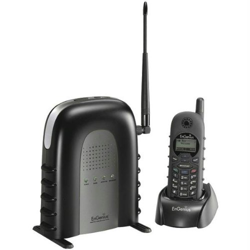 EnGenius DuraFon 1X Industrial Enables Long-Range Cordless Phone System With 2-Way Radio, Six Times as Powerful as the Average Cordless Phone, Handsets are Shock-absorbent and Water-resistant