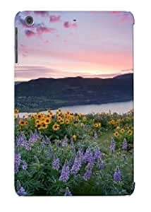 Fashionable Style Case Cover Skin For Ipad Mini/mini 2- Sunset Over The Flowers