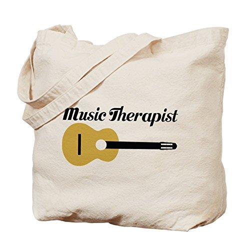 CafePress terapeuta de–Música con guitarra–Gamuza de bolsa de lona bolsa, bolsa de la compra