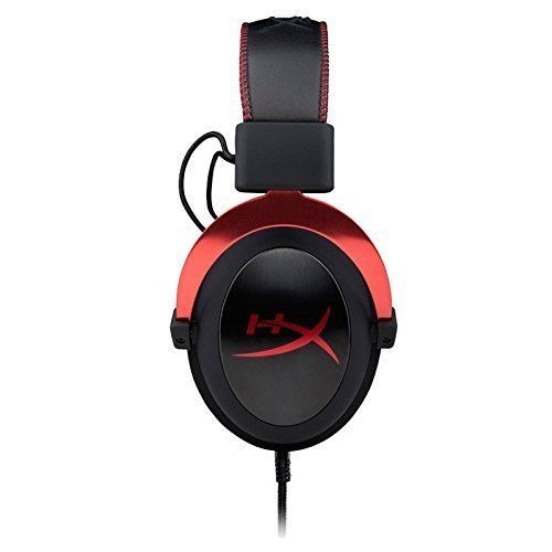HyperX Cloud II Gaming Headset - 7.1 Surround Sound - Memory Foam Ear Pads - Durable Aluminum Frame - Multi Platform Headset - Works with PC, PS4, PS4 PRO, Xbox One, Xbox One S - Red (KHX-HSCP-RD) by HyperX (Image #4)
