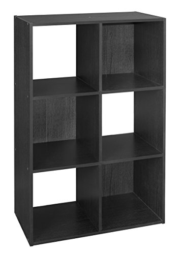 ClosetMaid 1574 Cubeicals Organizer, 6-Cube, Black (Closet Maid Black Drawer)
