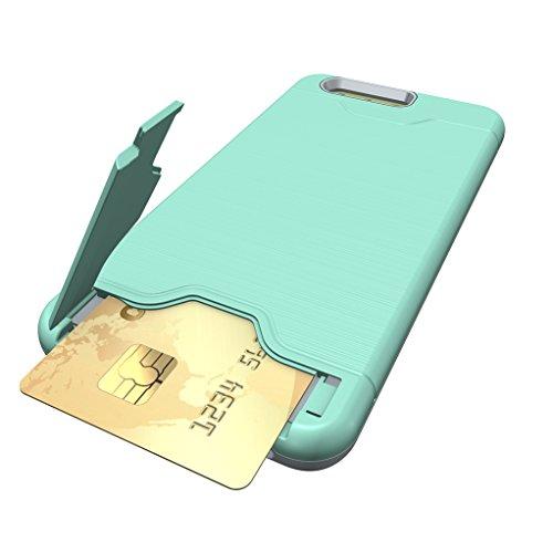 Trumpshop Smartphone Carcasa Funda Protección para Huawei P10 Plus + Oro Rosa + Fina de PC y TPU Silicona Caja Protectora Función de Soporte Ranuras para Tarjetas Verde