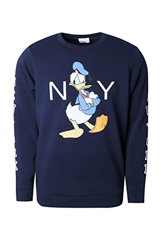Boohoo Mens Disney Donald Duck NYC Sweater In Navy Size XL