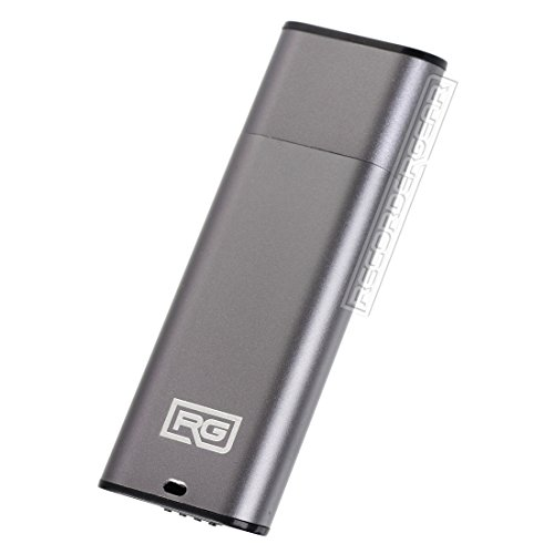 FD10 8GB USB Flash Drive Voice Recorder / Small 192kbps HD Quality Audio Recording Device / 16hr Battery & 90hr Capacity (Gray) (8 Gb Flash Audio)