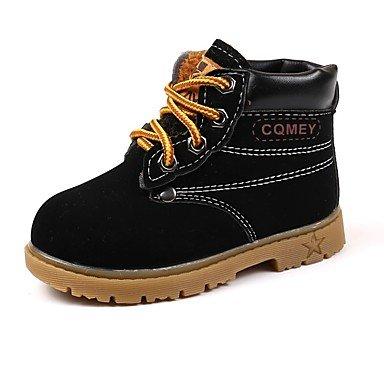 amp; nieve Negro de upLow Invierno Comodidad vestido botas de moda UE21 kekafu US5 fiesta de Los botas de botas noche muchachos's polipiel UK4 5 Otoño 5 combate Lace Toddle Casual botas Boda YZBRwq