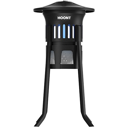 Mosquito Killer and Gnat Fly Trap Killer by Hoont, Indoor Outdoor Mosquito Trap Control with Stand - Bright UV Light and Fan / Exterminate Mosquitoes, Wasps, Etc.  Perfect for Patio, Gardens, etc.