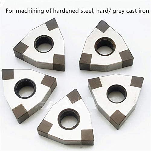 Txrh Drehbank CBN CNC Insert WNMG080408 WNGA 080404 080412 WNMG PCBN Spitzendrehschneidwerkzeugen for Dreh Gehärteten Stahlguss Umlenkwalze (Color : CBN for Iron, Insert Width(mm) : WNMG080404 3)