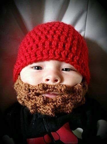 Amazon Com Baby Beard Beanie Handmade