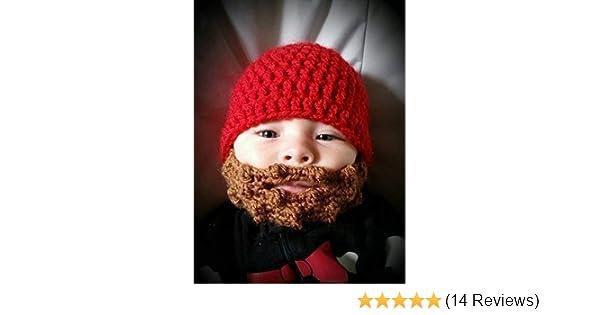 b688ce8d324 Amazon.com  Baby Beard Beanie  Handmade