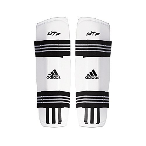 Adidas Taekwondo Shin Protector Shin Gear Guard TKD WTF Approved S to XL (2.M(4.98-5.58ft)(152-170cm))