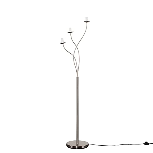 Modern designer style twist design 3 way brushed chrome floor lamp modern designer style twist design 3 way brushed chrome floor lamp aloadofball Gallery